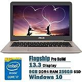 2017 ASUS ZenBook 13.3-Inch Full HD 1920 X 1080 Laptop PC, Intel Core I7-6500U 2.5GHz 8GB DDR4 RAM 256GB SSD Backlit...