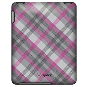 Speck Products Apple iPad Fitted Case in Classic Plaid (Pink and Gray), IPAD-FTD-A02A020
