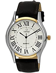 Omax Analog White Dial Watch For Men - TS489