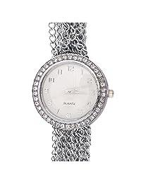 Super Drool Silver Metal Bracelet Wrist Watch