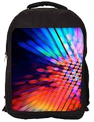 Snoogg City Light Haze Backpack Rucksack School Travel Unisex Casual Canvas Bag Bookbag Satchel