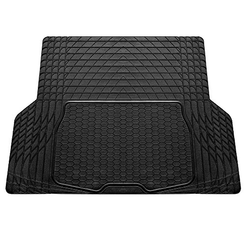 FH GROUP FH-V16402 Durable Premium Trimmable Vinyl Trunk Liner / Cargo Mat for SUV and Van Black