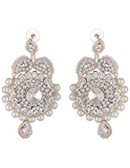 Bel-en-teno White Alloy Earring Set For Women - B00PY9YFJY