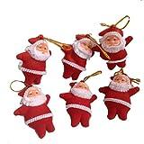 Pragati Pro Christmas Tree Decoration Hanging Santa(pack Of 6, Red)