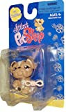Littlest Pet Shop Exclusive Single Pack Cuddliest # 719 - Brown Bulldog with Rope