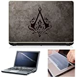 First Look Trend 3 In 1 Laptop Accessories Combo Kit - Assassins Creed Laptop Skin 15.6 Inches Sticker With Laptop Screen Guard & Keyboard Protector For All Laptops