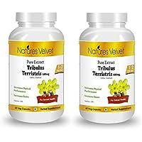 Natures Velvet Combo Of Tribulus Gokshura Gokhura Pure Extract (500 Mg), 60 Capsules