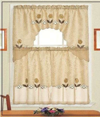 Lily Brown Kitchen Tier Curtains