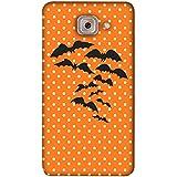 PrintVisa Designer Back Case Cover For Samsung Galaxy On Max (Black White Night Bird Birds)