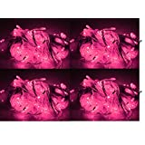 ASCENSION Set Of 4 Rice Lights Serial Bulbs Decoration Lighting For Diwali Christmas (PINK)