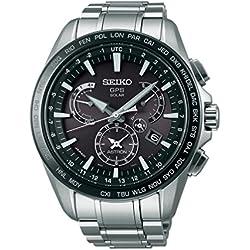 Men's Seiko Astron GPS Solar Dual Time Dual time indicator (40 time zones) SSE077