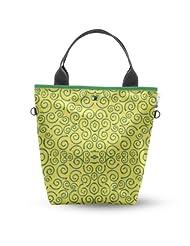 Atrangee Yellow Whirly Tall Tote Bag (Yellow & Green)