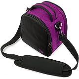 Laurel , Purple : Vangoddy VGLaurelPUP Laurel DSLR Camera Case With Removable Shoulder Strap (Purple)