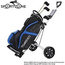 Alcoa Prime TOMSHOO Golf Cart Foldable 2 Wheels Push Cart Aluminum Pull Cart Trolley