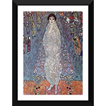 Tallenge Old Masters Collection - Baroness Elizabeth By Gustav Klimt - Premium Quality Ready To Hang Framed Poster...
