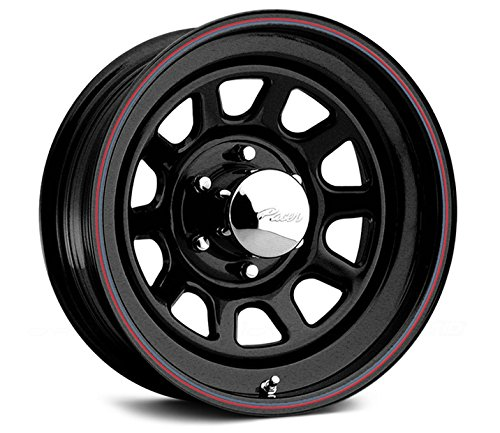 Pacer Black Daytona 15×7 Black Wheel / Rim 6×5.5 with a 0mm Offset and a 108.70 Hub Bore. Partnumber 342B-5760