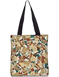 Snoogg Vector Floral Pattern Fashion Printed Shopping Shoulder Lunch Tote Bag For Women