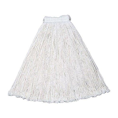 RUBBERMAID Economy Cotton Wet Mop Head - White