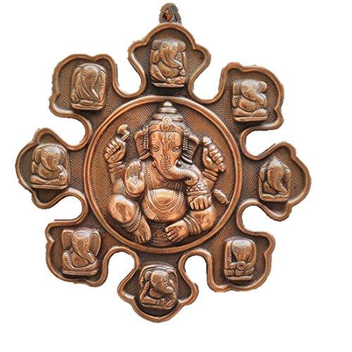 JaipurCrafts Matel Wall Hanging Of Lord Ganesha With 9 Varients