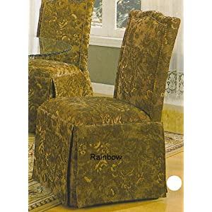 2 Parson Chairs in Green Floral