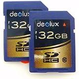 Trade Twin Pack 2 X 32GB Memory Card Class 10 SD SDHC Class 10 Memory Card Class 10 CLASS 10 FOR JVC Everio GZ-MG155EK...