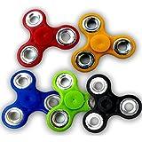 Fidget Spinner Bearing Ultra Speed Tri-Spinner Hand Spin Toy (Multicolor) ( Set Of 5 )