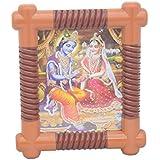 Skynet Plastic Shree Radha Krishna Frame (30 Cm X 3 Cm X 33 Cm)