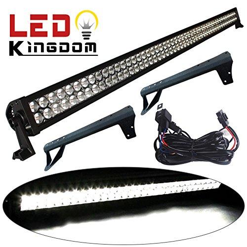 LEDKINGDOMUS 1 X 300W 52″ LED Light Bar+ Mounting Bracket For Jeep JK Wrangler+Wiring Kit Offroad