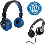 Captcha Apple IPad Mini Compatible Certified MS-771 Wireless Bluetooth Multi-function Headphone With Built-in TF Card Slot & Mega-Bass Headphones Stereo With High Bass Performance (1 Year Warranty)