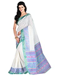 Roopkala Silks & Sarees Cotton Silk Saree With Blouse Piece (Ga-1103 _off White)