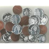 20 Assorted Coins For Kids..Play Money For Teaching Counting,,Fun At Parties..