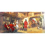 """Dolls Of India """"Medieval British Country Inn"""" Reprint On Paper - Unframed (101.60 X 50.80 Centimeters)"""