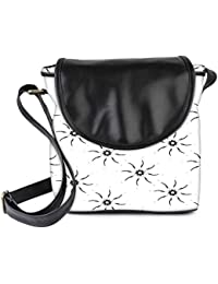 Snoogg Sparkling Sun Grey Womens Sling Bag Small Size Tote Bag