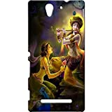 Lord Radha Krishna Design 3D Printed Hard Back Case Cover For Sony Xperia C3