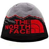 The North Face Winter Thicken Polar Fleece Thermal Beanie Hat (Gray-Black, One Size)