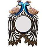 Divraya Wood Peacock Wall Mirror (30.48 Cm X 4 Cm X 45.72 Cm, DA125)