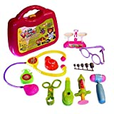 Dazzling Toys Kids Pretend Doctor Set With Kit, Set Of 10 Pieces