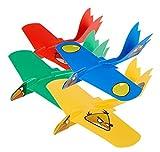 (4 Variety Pak) Super Looper Angry Birds Indoor/Outdoor Boomerang Plane- Red, Blue, Yellow Boomerang Birds