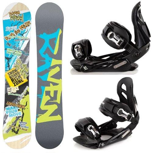 Snowboard Set: Snowboard Raven Risky Rocker + Bindung Raven s250 Black M/L