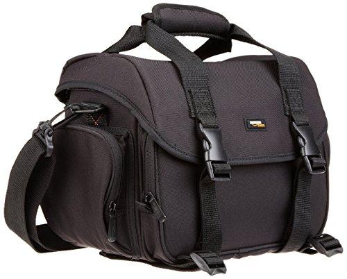 AmazonBasics Sacoche Gadget pour appareil photo reflex numérique et accessoires modèle Large intérieur orange