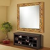 Elegant Arts & Frames Antique Gold Wall Decorative Wood Mirror 30 Inch X 30 Inch