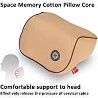 Delicate Sewing Car Sapce Memory Cotton Neck Support Cushion, Detachable Travel Pillow For Car Seat (beige)