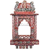 APKAMART Handicraft Wooden Jharokha 16 Inch - Handcrafted Wall Hanging Frame For Home Decor And Gifts