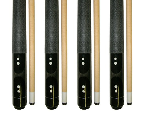 Iszy Billiards Lot Of 4 - 58 2 Piece Hardwood Canadian Maple Pool Cue Billiard Table Stick 18 - 21 Oz With Steel Joint