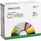 Memorex CD-RW Discs, 700MB/80min, 12x, 10/Pack