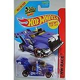 HOT WHEELS RIG STORM HW RACE 175/250 BLUE SHIP IN BOX