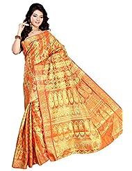 Alankrita Orange Color,Self Design, Woven, Solid Kanjivaram Silk, Art Silk, Jacquard, Chanderi, Nylon, Cotton,...