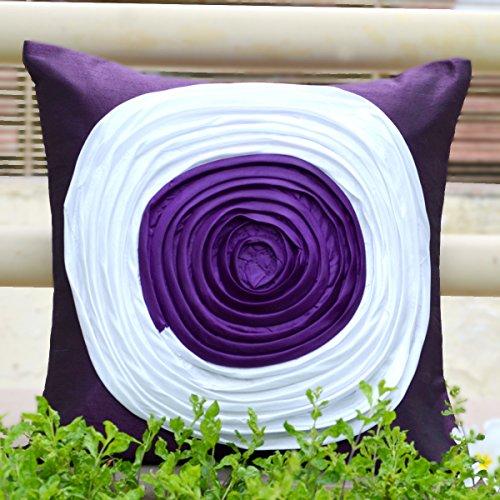 Cushion Casa Cushion Covers (Purple) - B00NMC8S3E