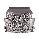 Noah's Ark Animals Brushed Pewter Coin Bank