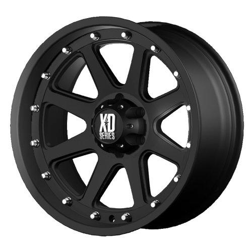 XD Series by KMC Wheels XD798 Addict Matte Black Wheel (17×9″/5x127mm, -12mm offset)